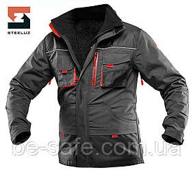 Куртка рабочая защитная со съёмной утепленной подкладкой SteelUZ 4S с красной отделкой, спецодежда