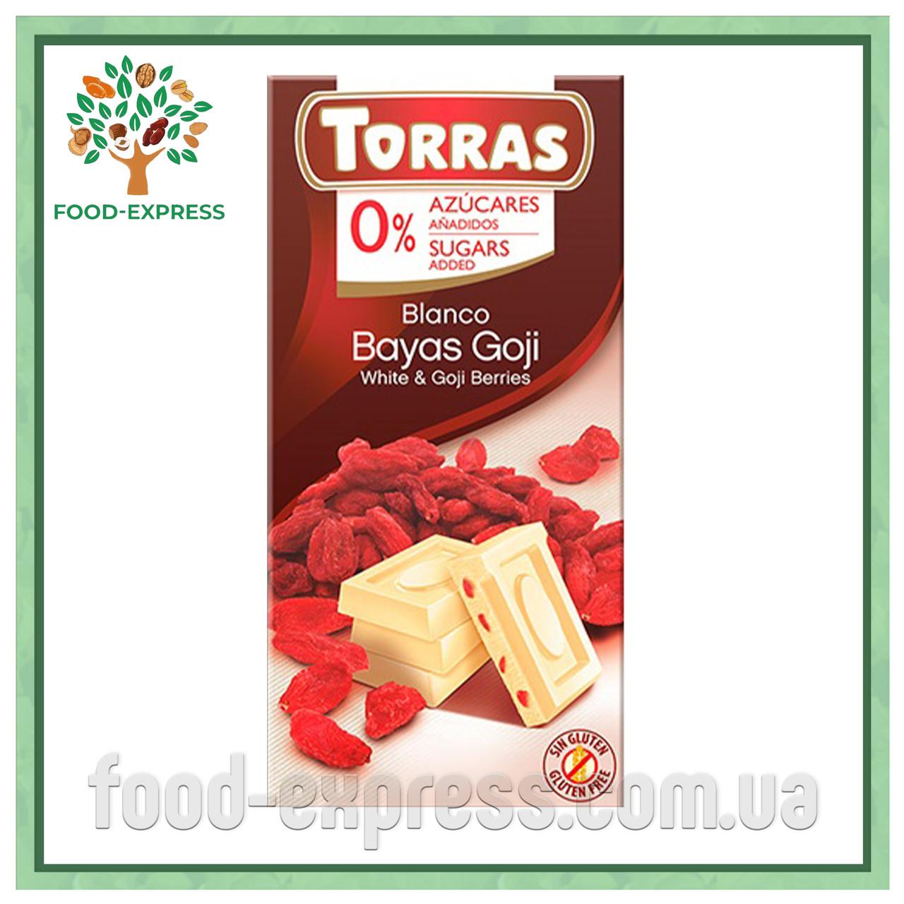 TORRAS белый с ягодами годжи, без сахара 75Г