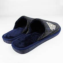 Капці чоловічі хатні тапочки чоловічі кімнатні домашні теплі сині Sport р. 44-45