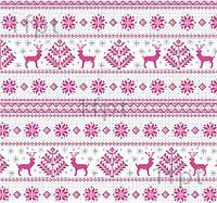 """Подарунковий папір білий крейдований ТМ """"LOVE & HOME"""" фінський принт «Олені» 0,7x10 м"""