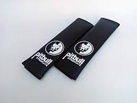 Подушки накладки на ремень безопасности  PITBULL черная