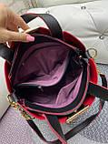 Стильна жіноча сумка позов.шкіра, фото 5