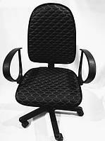 Чехол на офисное кресло черный экокожа 00824