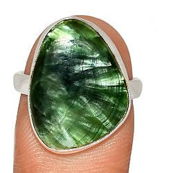 Серебряное кольцо с серафинитом, 2540КЦС