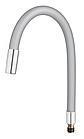 Излив (носик-гибкий) силиконовый 55см цветной FRAP F7250-56, фото 2