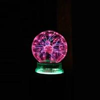 Плазменный шар Тесла музыкальный ночник 10 см плазменная лампа шар с молниями Plasma ball