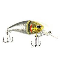 Воблер плавающий подвижная рыбка 8.5 см 14 г серебряный