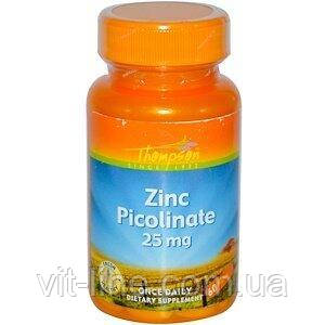 Пиколинат цинка 25 мг Thompson 60 таблеток, фото 2