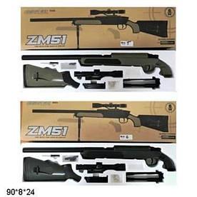 Автомат CYMA ZM51G/ZM51T з кульками, лазер. прицілом, метал+пластик, кор. 90*8*24