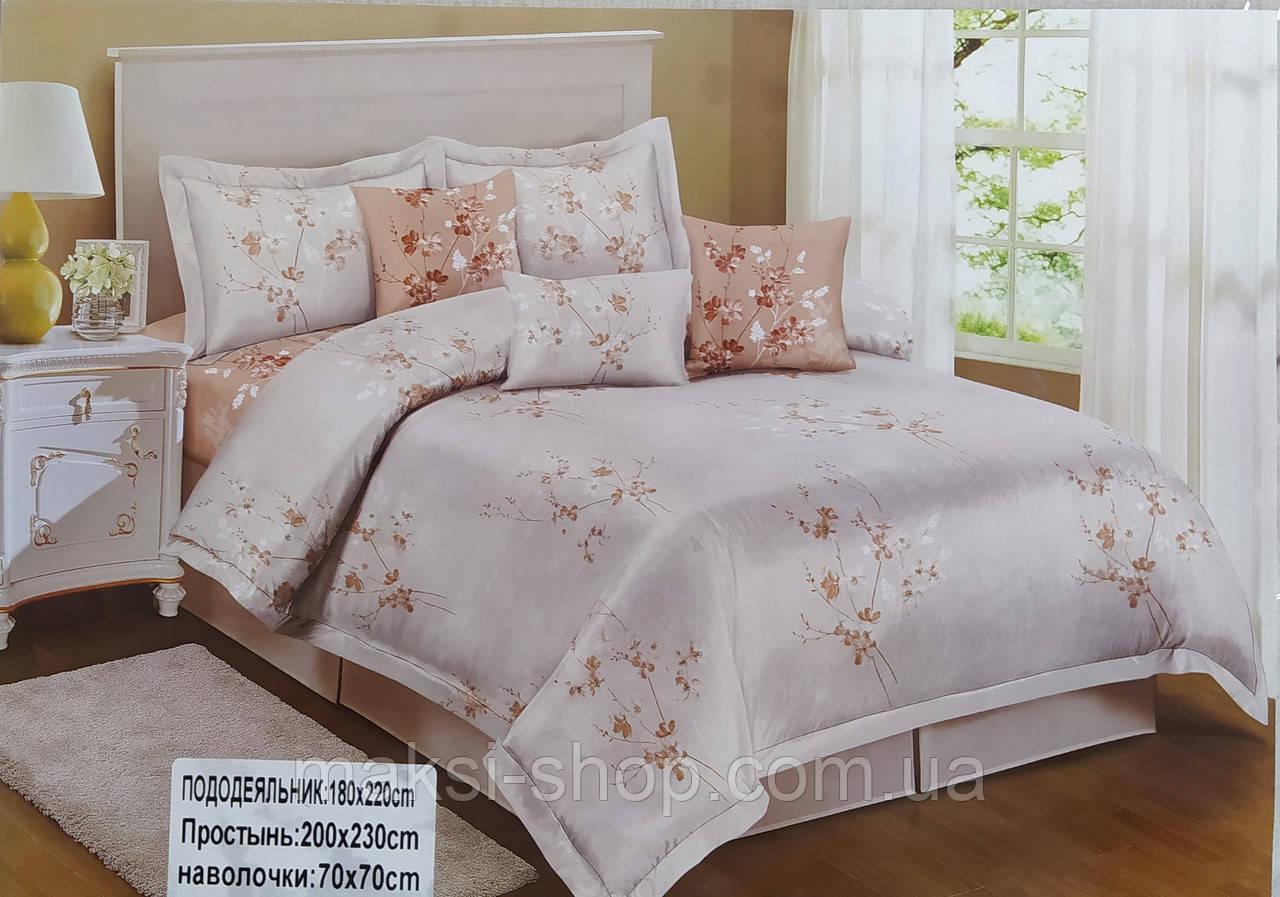 Комплект полуторного постельного белья двустороннее комбинированное сатин-хлопок Koloco Турция