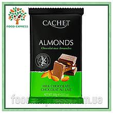Шоколад Cachet молочный с миндалем, 300гр