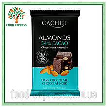 Шоколад Cachet черный с миндалем, 300гр
