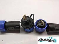 Разъем водонепроницаемый 25А ip68  md 20 2-х контактный.Герметичный соединитель кабеля ., фото 1