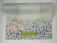 Коврик для йоги Замшевый каучуковый двухслойный 3мм Record FI-5662-23, бирюзовый-розовый, фото 1