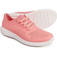Женские спортивные Кроссовки Crocs LiteRide Pacer Sneakers Melon White Крокс Оригинал