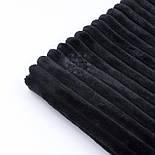 Плюш в полоску Stripes чёрного цвета, фото 5