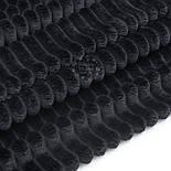 Плюш в полоску Stripes чёрного цвета, фото 3