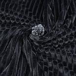 Плюш в полоску Stripes чёрного цвета, фото 2