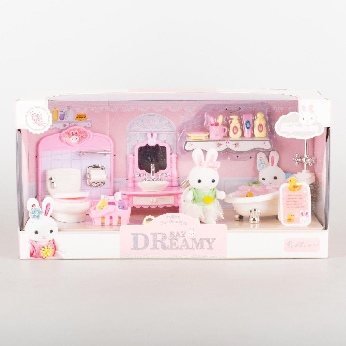 Игровой набор Bay Dreamy ванная комната с мебелью,флоксовый зайка