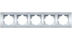 Рамка 5-а универсальная серебряная EL-BI Zena