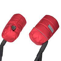 Муфта на коляску детскую на флисе красная / муфты рукавицы на коляску детскую