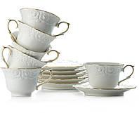 """Сервиз чайный 12 предметов 220 мл """"Белая ночь"""" 1707, фото 1"""