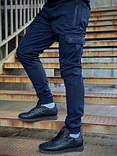 Штани теплі чоловічі спортивні сині Intruder Flash