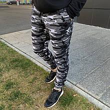Штани спортивні чоловічі сірі камуфляж