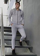 Штаны Спортивные мужские Cosmo Intruder серые трикотажные, фото 3