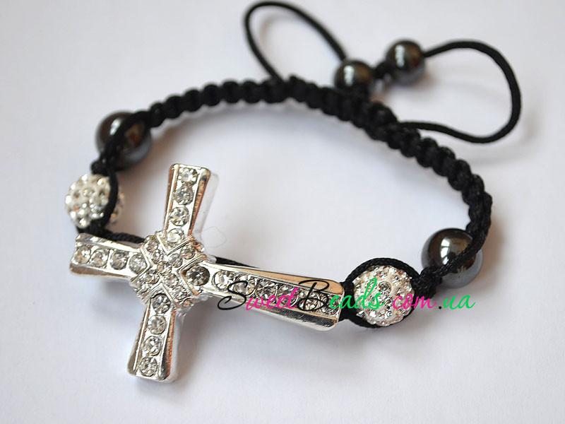 Браслет Шамбала-1, хрест з перетинанням