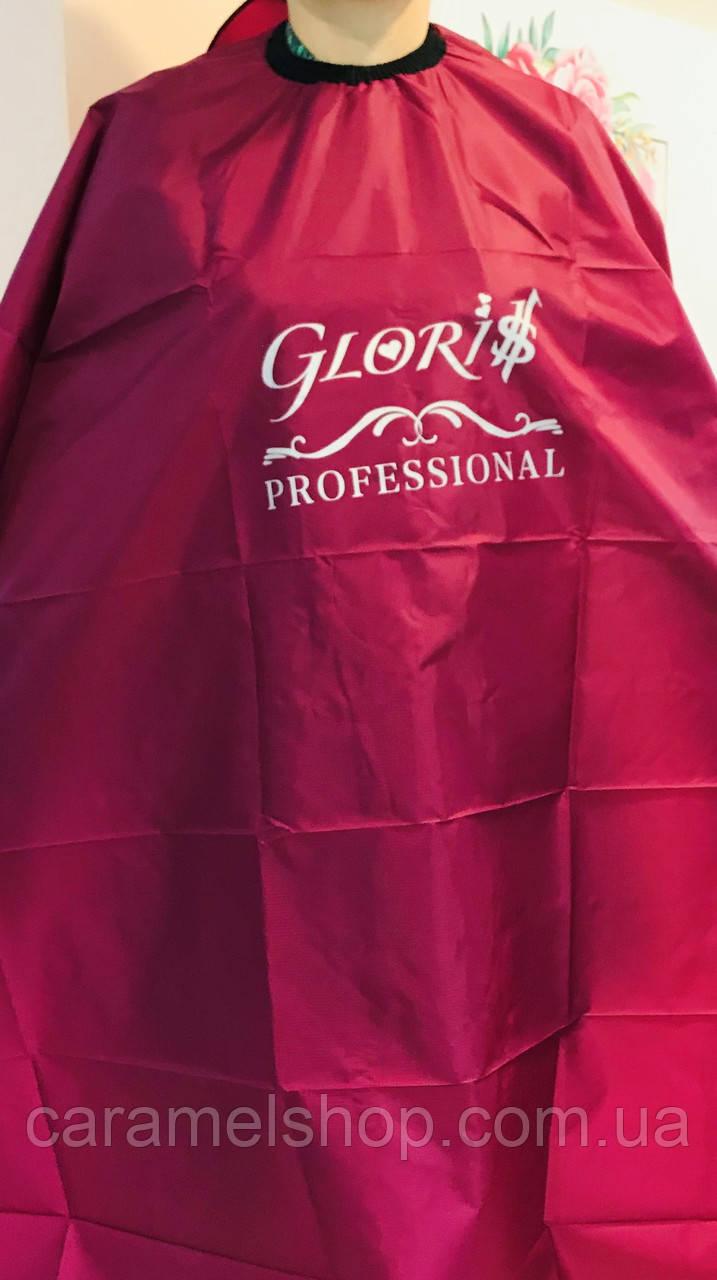 Пеньюар для стрижки парикмахерский Glori$ цвет БОРДО