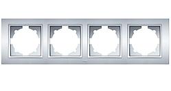 Рамка 4-а универсальная серебряная EL-BI Zena
