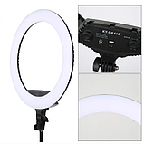 Профессиональная кольцевая Led лампа KY-BK416 18 для качественной фотосъемки и для дополнительного освещения., фото 2