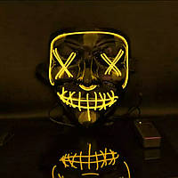 Маскарадная маска, маска для вечеринок с неоновой подсветкой YELLOW