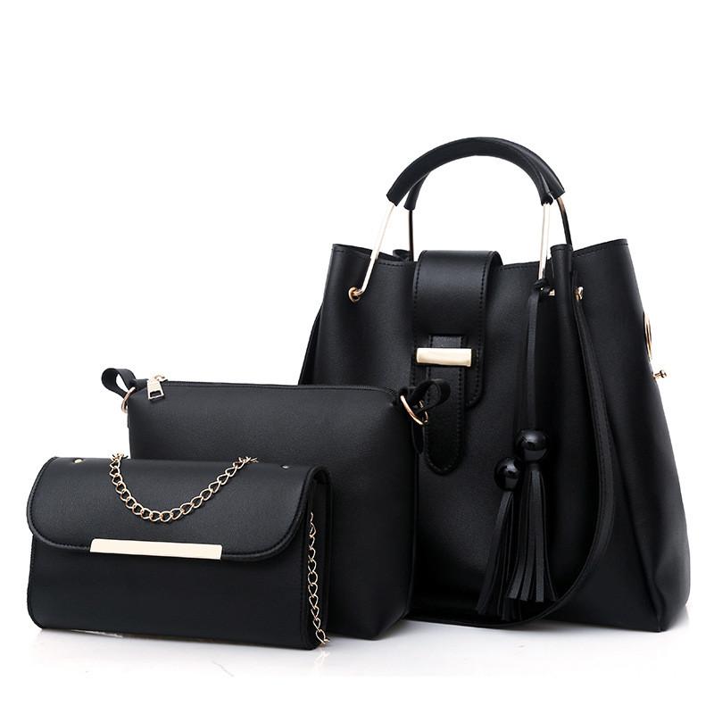 Женский набор сумок, Комплект 3в1 из эко-кожи (шоппер, косметичка и клатч), FS-3514-10