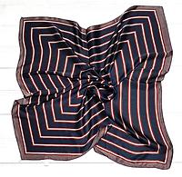 Шелковый шейный платок Холли 70х70 см полоска графит