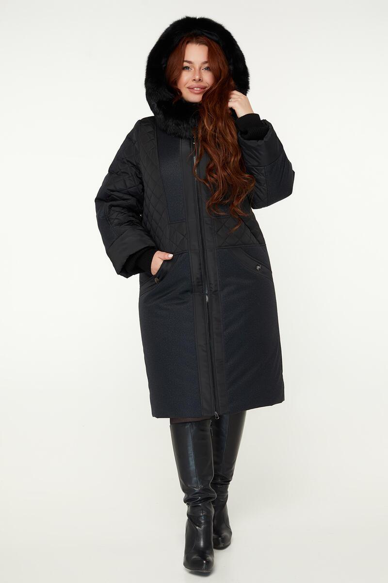 Зимнее женское пальто с натуральной опушкой М 910 батал