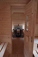 Сауна парна деревянная лазня мобильная отдельностоящая с предбанником, фото 3