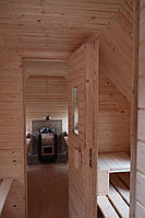 Сауна парна деревянная лазня мобильная отдельностоящая с предбанником, фото 2