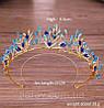 Тиара с голубыми камнями, диадема БЭЛЬ, диадема с синими камнями, фото 3
