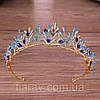 Тиара с голубыми камнями, диадема БЭЛЬ, диадема с синими камнями, фото 5