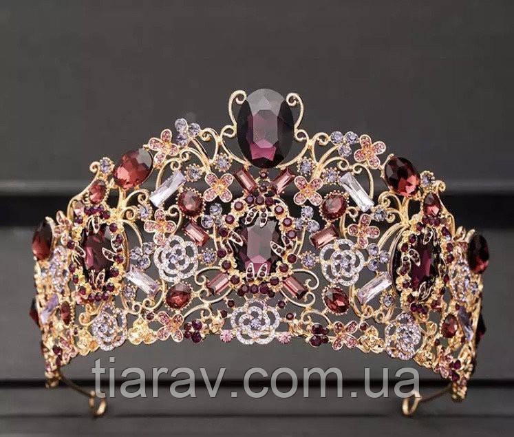 Тиара , диадема , корона на голову Инесса , высокая диадема