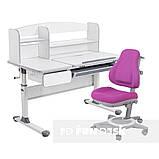 Комплект парта для школярів Cubby Rimu Grey + універсальне дитяче крісло FunDesk Bravo Purple, фото 2