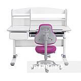Комплект парта для школярів Cubby Rimu Grey + універсальне дитяче крісло FunDesk Bravo Purple, фото 3