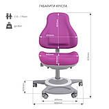 Комплект парта для школярів Cubby Rimu Grey + універсальне дитяче крісло FunDesk Bravo Purple, фото 8