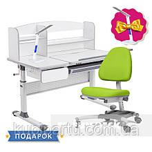 Комплект для школьников парта Cubby Rimu Grey + подростковое кресло FunDesk Ottimo Green