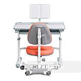 Комплект для школьника растущая парта Cubby Fressia Grey + кресло для дома FunDesk Ottimo Orange, фото 2