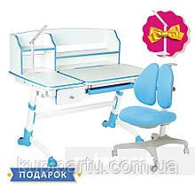 Комплект для школяра парта FunDesk Amare II Blue + крісло для дому FunDesk Bello II Blue