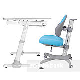 Комплект для хлопчика стіл-трансформер FunDesk Invito Grey + ергономічне крісло FunDesk Inizio Blue, фото 2