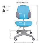 Комплект для хлопчика стіл-трансформер FunDesk Invito Grey + ергономічне крісло FunDesk Inizio Blue, фото 8